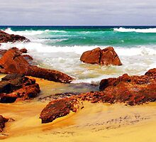 On the beach at Moses Rock by georgieboy98