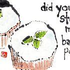 Basil-Lemon Cupcakes by dosankodebbie