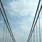 Driving across George Washington Bridge by Jane McDougall
