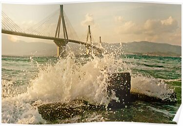 Rio-Antirio Bridge Patra,Greece by Clockworkmary