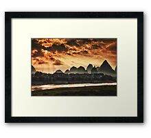 the day is beginning Framed Print