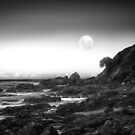 Moonrise on Good Friday, Emerald Beach NSW, Australia by Normf