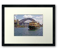 Manly Ferry approaching Circular Quay Framed Print