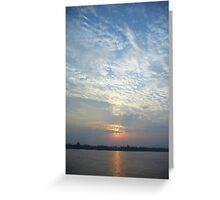 Sunset on the Yangtze River Greeting Card