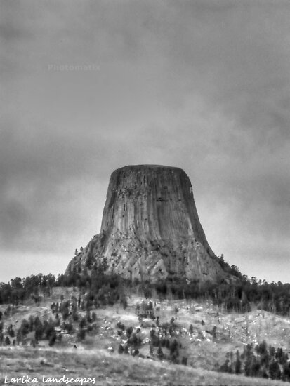 The mighty rock in the middle of nowhere by Erika Price