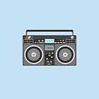 Boombox iPhone Case by Josh Marten