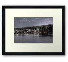 Ghost Town by the Lake Framed Print