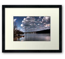 Blue Sky Tornado Framed Print