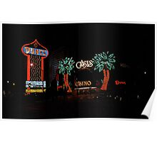 Las Vegas with Watercolor Effect Poster