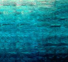 Blue Oil Painting by Fred Seghetti