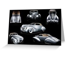 Custom Ford Coupe Greeting Card