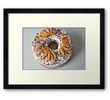 sponge cake     Framed Print