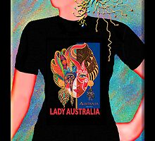 Lady Australia, Wearable Art,Greeting Card or Small Print by luvapples downunder/ Norval Arbogast