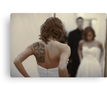 bride in the mirror Canvas Print