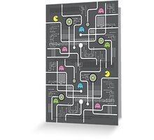 Return Of The Retro Video Games Circuit Board Greeting Card