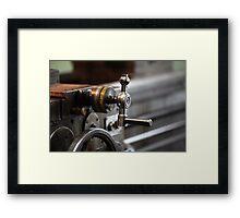 turning lathe Framed Print