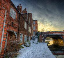 Snowy Canal Footpath by Yhun Suarez