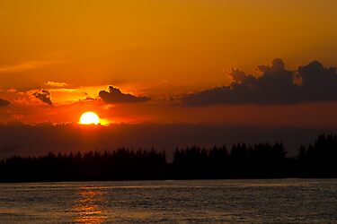 Burnt Orange Sunset Florida by Henry Plumley