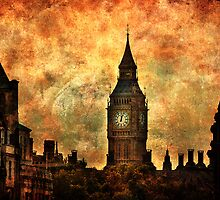Big Ben View From Trafalgar Square by Yhun Suarez