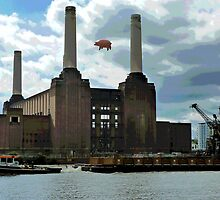 Battersea Power Station( pihk floyd pig) by Tim Healy