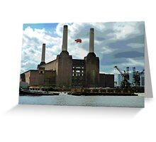 Battersea Power Station( pihk floyd pig) no.4 Greeting Card