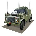 Land Rover UK Army by Tony  Newland