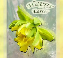 Happy Easter Card - Yellow Daffodil by MotherNature