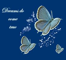 Dreams Do Come True Inspirational Card - Eastern Tailed Blue Butterfly by MotherNature