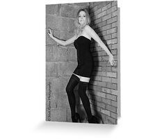 Annabel Black and White Greeting Card