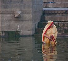 Lady Ganges Bather by phil decocco