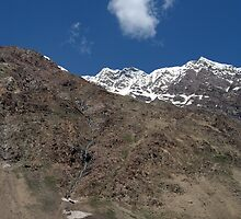 Mountains in Lahaul Valley by SerenaB