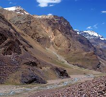 Spiti River in the Spiti Valley by SerenaB