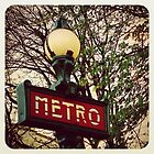 Classic Paris Metro by Catherine C.  Turner