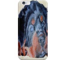 Rottweiler Puppy Portrait iPhone Case/Skin