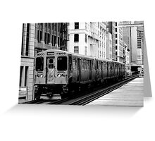 Brown Line Greeting Card