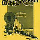 IN A COVERED WAGON WITH YOU (vintage illustration) by ART INSPIRED BY MUSIC