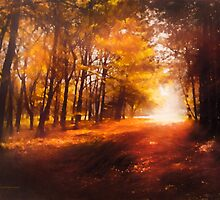Four Seasons Autumn Impressions At Dawn by Romanovna Fine Art Prints