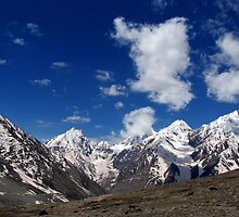 Snow Topped Mountains in the Spiti Valley by SerenaB