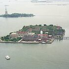 Ellis Island From Blimp by Bdonahy