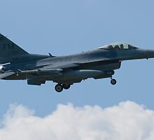 Side Shot FM AF 86 0337 F-16C Fighting Falcon Approach by Henry Plumley