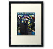 Sherlock Nouveau: Gregory Lestrade Framed Print