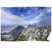 Looking over Capetown Poster