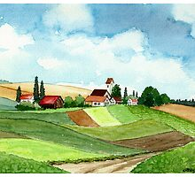 WESTFALEN GERMANY - AQUAREL by RainbowArt