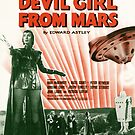 DEVIL GIRL FROM MARS (vintage illustration) by ART INSPIRED BY MUSIC