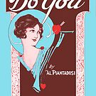 DO YOU (vintage illustration) by ART INSPIRED BY MUSIC