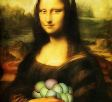 Mona Lisa Easter Bunny  by Gravityx9