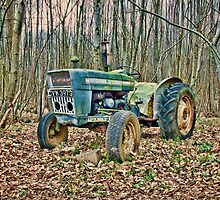 Tractor In The Woods by Dave Godden