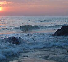 Water on the Rocks at Sunset Varkala by SerenaB