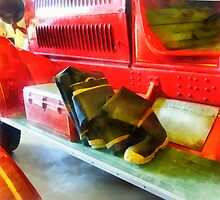Two Pairs of Boots on Fire Truck by Susan Savad