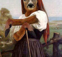 Dearest Deer Shepherdess by Gravityx9